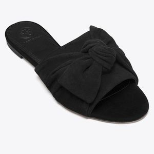 Tory Burch Annabelle Bow Slides Perfect Black